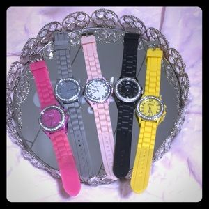 Geneva Colorful Watch In 5 colors